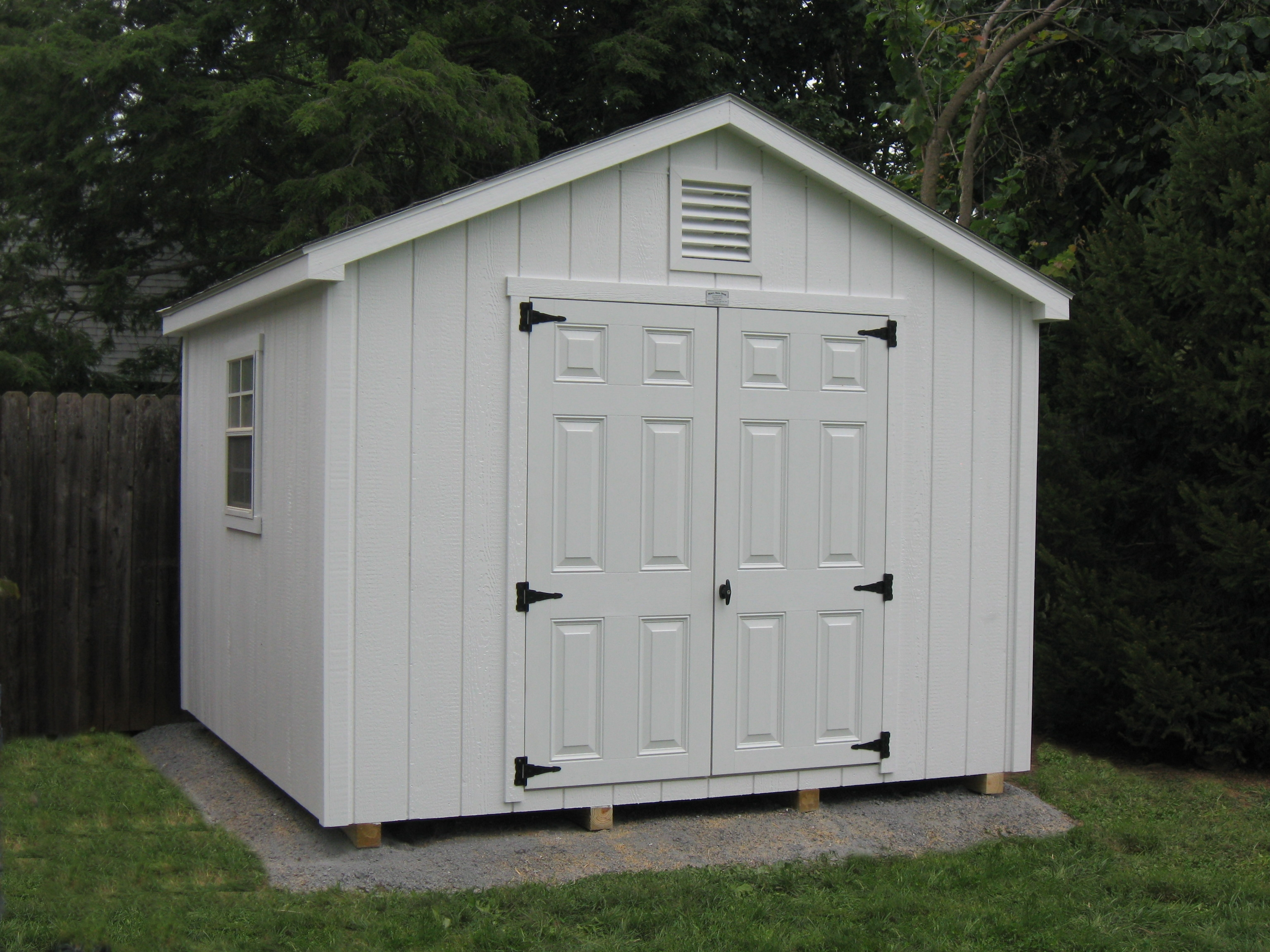 10 x 10 garden shed myers barn shop for Garden sheds built on site