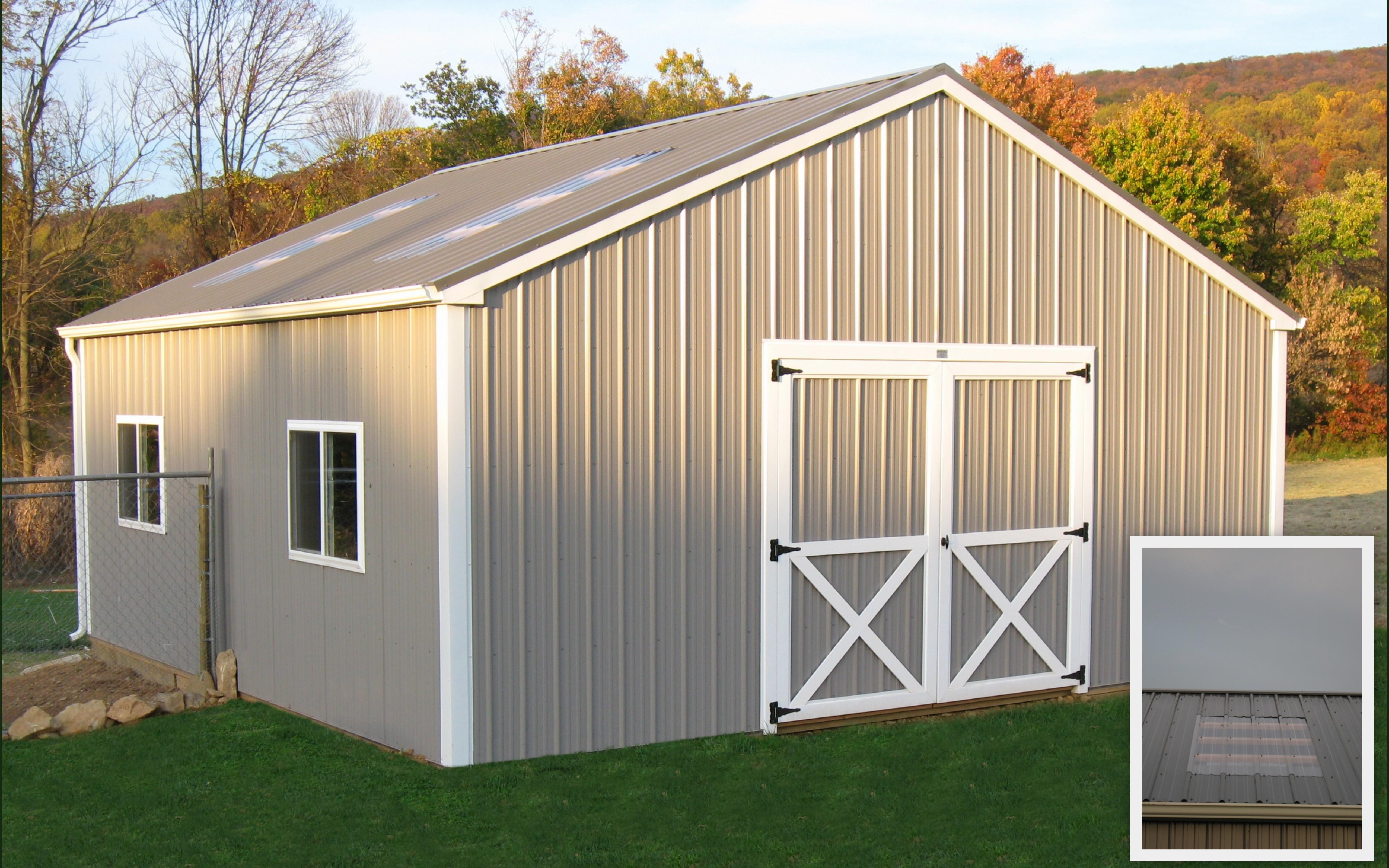 24 X 24 Livestock Pole Building Myers Barn Shop