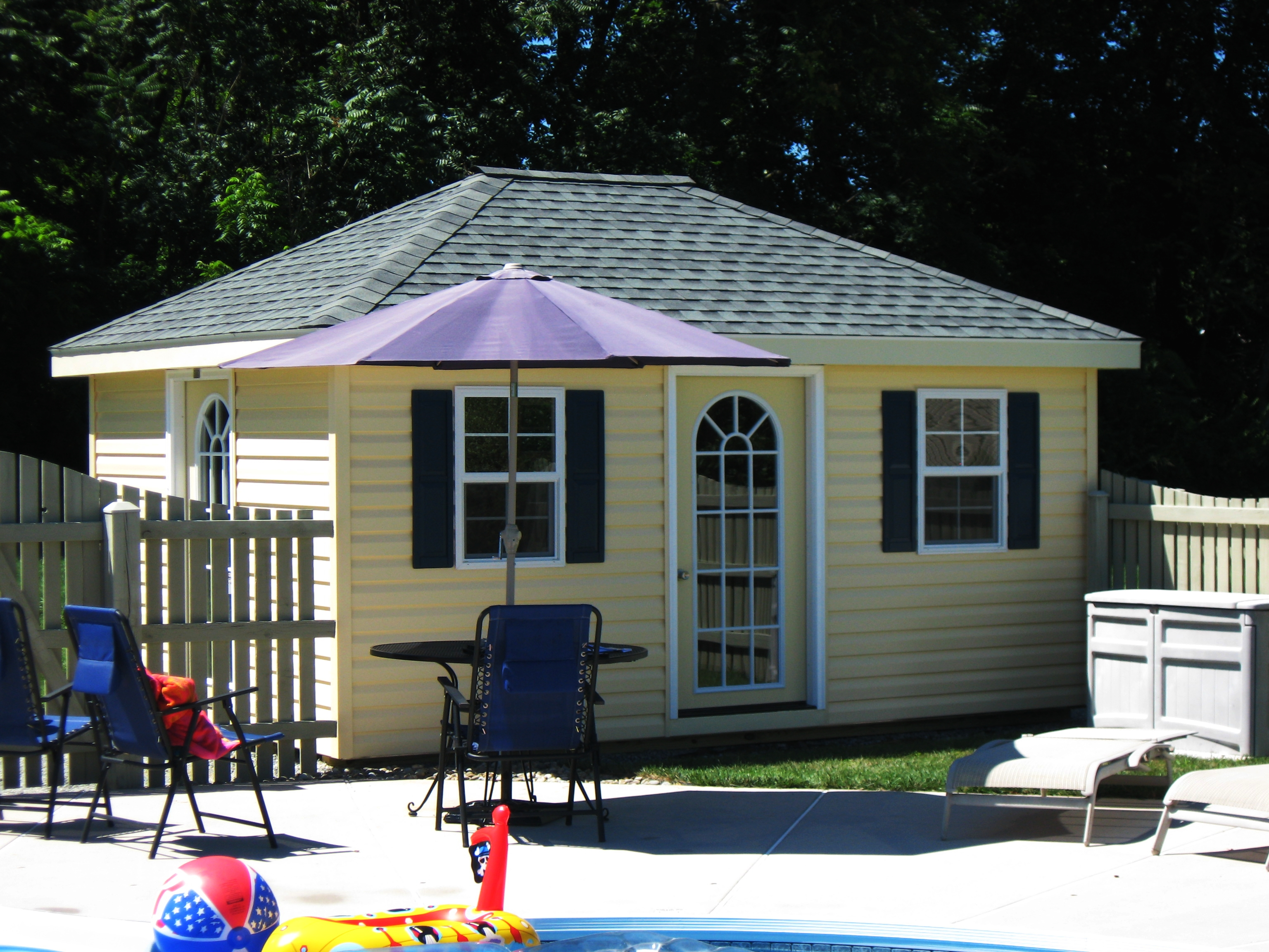 12 X 16 Hip Roof Pool House Myers Barn Shop